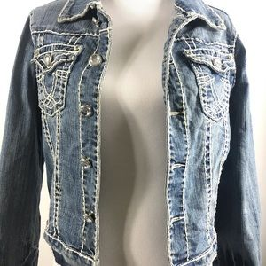 L.A. Idol USA Denim Jean Jacket XLarge
